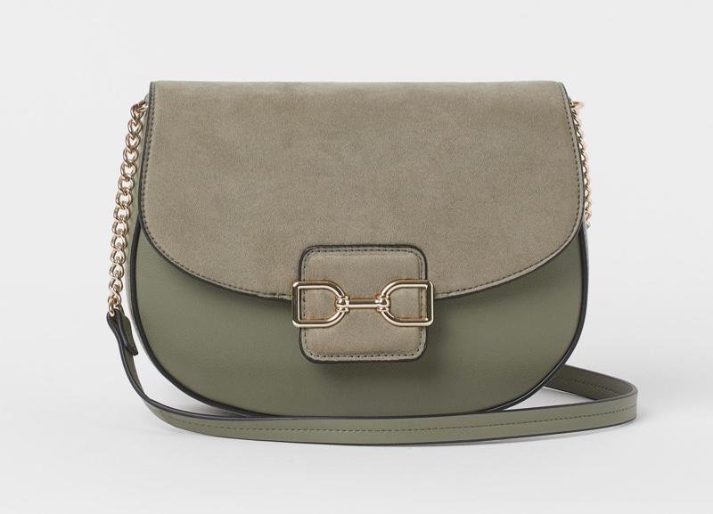 H&M Shoulder Bag in Light Khaki Green $19.99