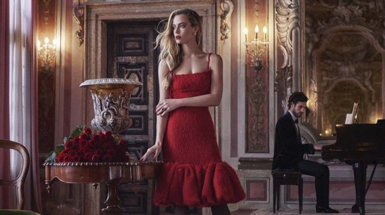 Hannah Ferguson is the Lady in Red for Harper's Bazaar