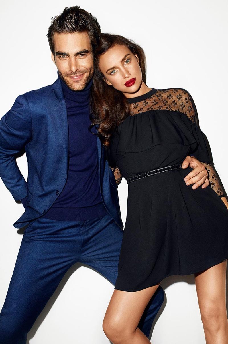 Jon Kortajarena and Irina Shayk front Reserved's Christmas 2017 campaign