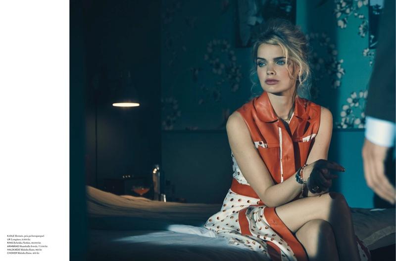 Jane Van Kuijck Models Retro Fashion for In Magazine