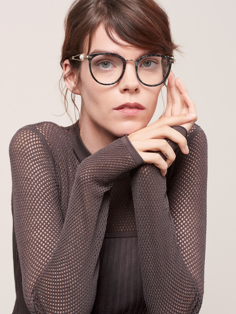 Looking sharp, Meghan Collison fronts Jason Wu Eyewear's fall-winter 2017 campaign