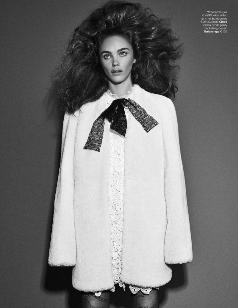 Jena Goldsack Poses in Party Ready Looks for Vogue Netherlands