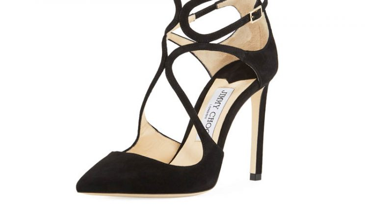 Jimmy Choo Lancer Suede Caged Pump $795