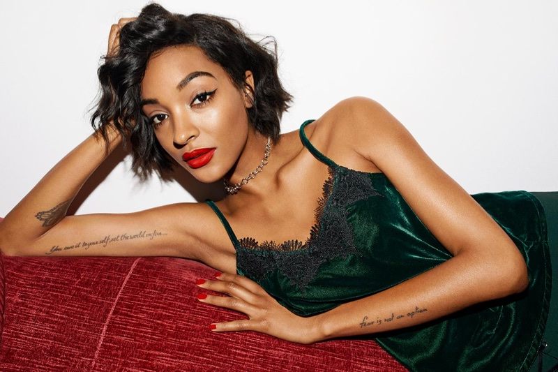 Jourdan Dunn appears in Reserved Christmas 2017 campaign