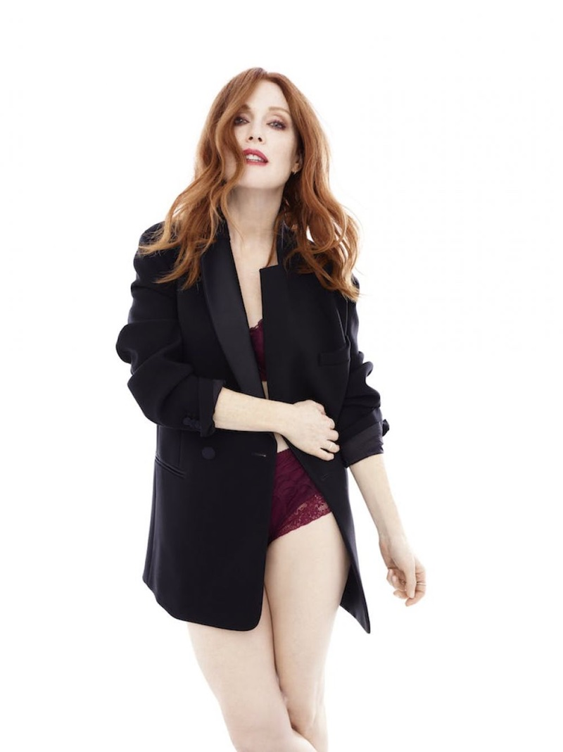 At 56-years-old, Julianne Moore stars in Triumph Florale lingerie campaign