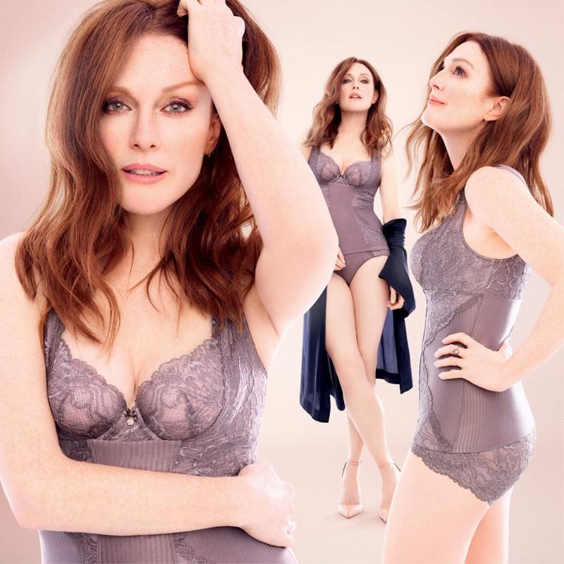 Julianne Moore stars in Triumph Florale lingerie campaign