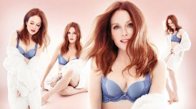 Actress Julianne Moore appears in Triumph Florale Lingerie campaign