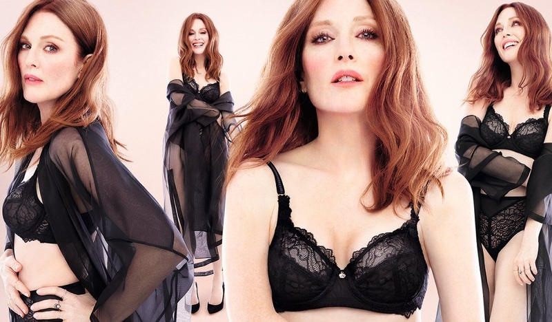 Actress Julianne Moore strips down for Triumph Florale lingerie campaign