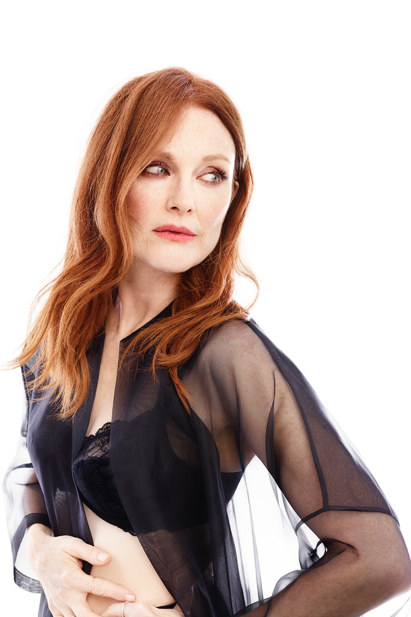 Julianne Moore for Triumph Florale lingerie fall-winter 2017 campaign