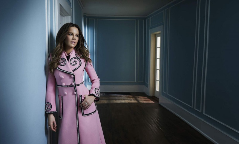 Kate Beckinsale Poses in Elegant Coats for Glass Magazine