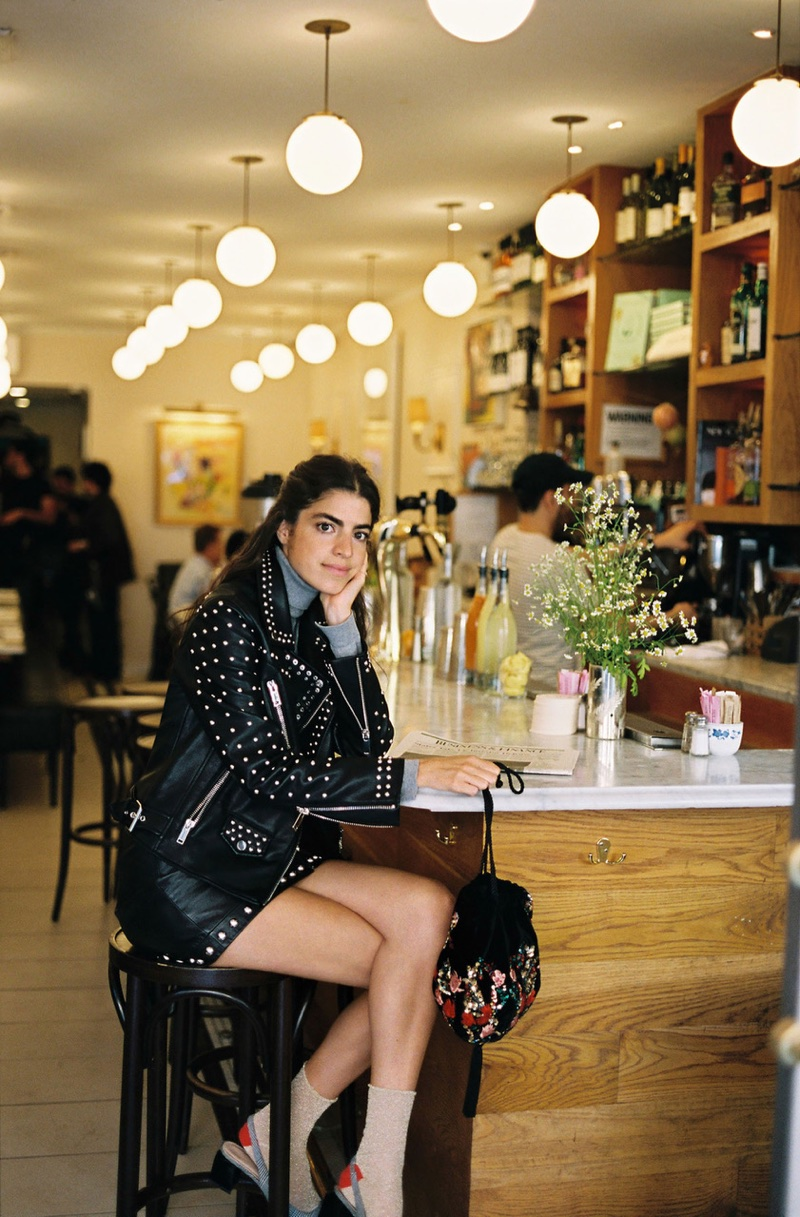Photographed by Hunter & Gatti, Leandra Medine poses in New York City for Mango Journeys