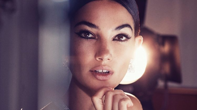 Lily Aldridge Channels Her Inner Movie Star for Harper's Bazaar Arabia