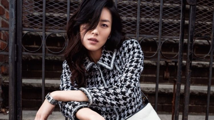 Liu Wen Models Luxe Street Style for Grazia China