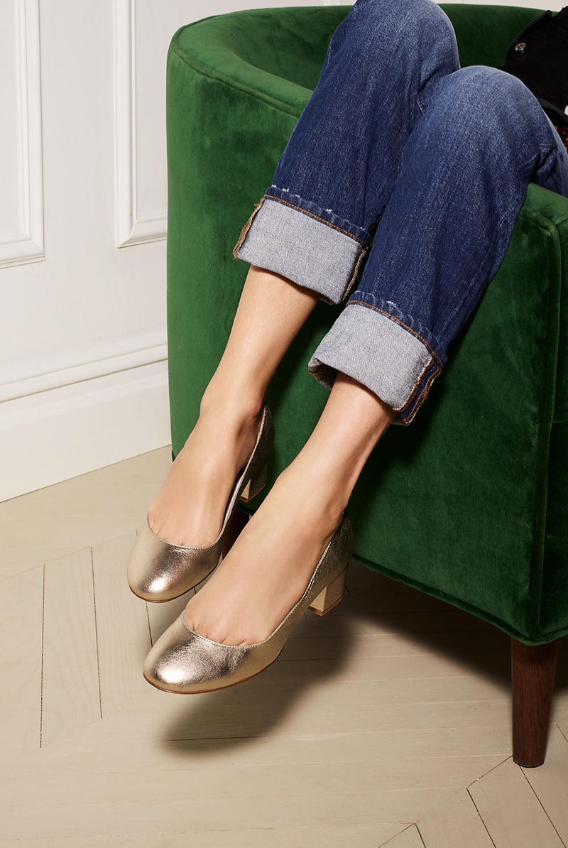 Madewell The Ella Pump in Metallic