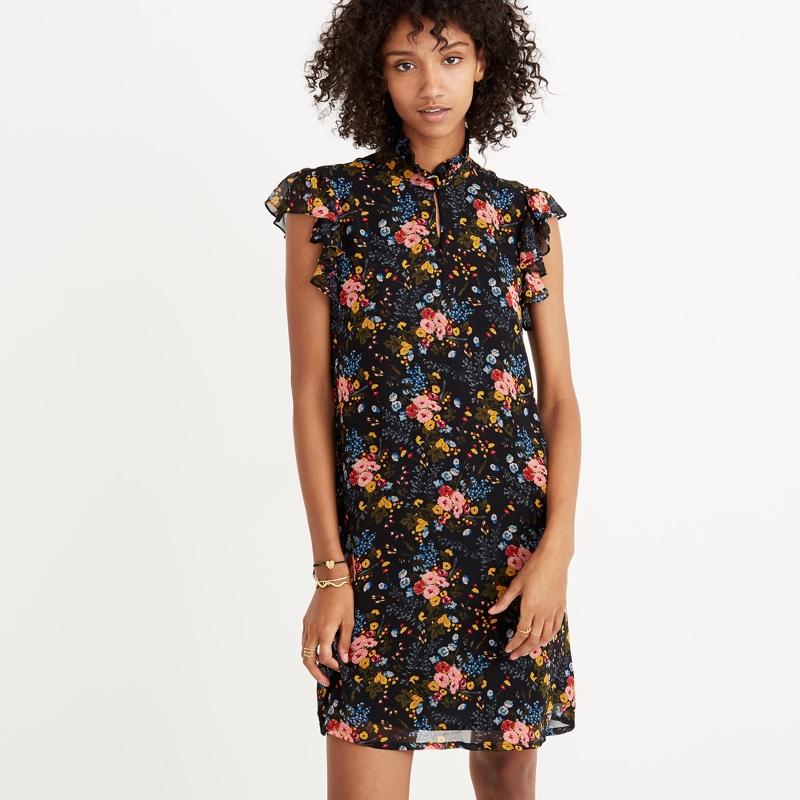 Madewell x No. 6 Silk Beacon Dress in Garden Bouquet $150
