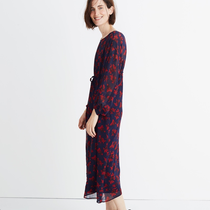 Madewell x No 6 Silk Magical Dress in Vintage Rose $178