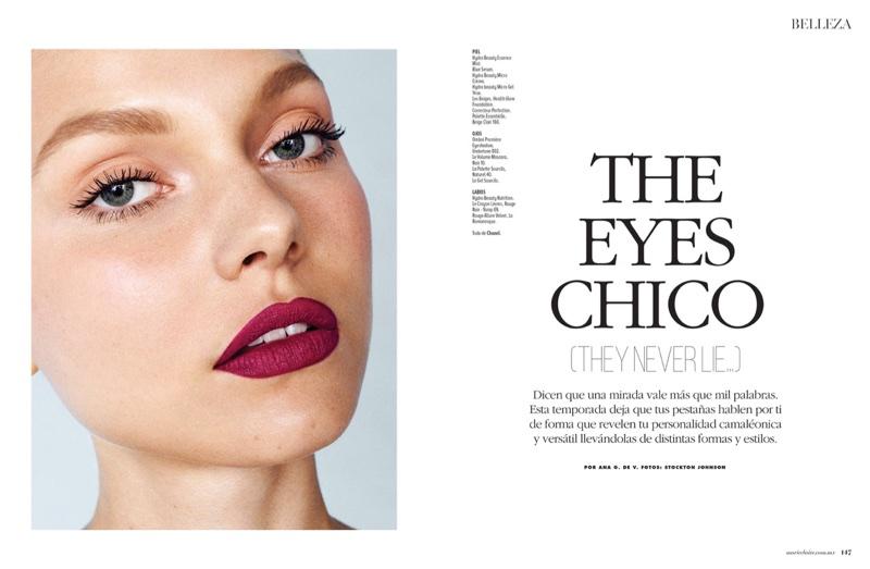 Maja Brodin Wears Eye-Catching Beauty for Marie Claire Latin America