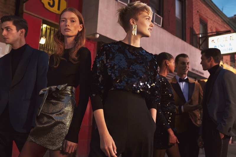 Julia Hafstrom and Ruth Bell star in Mango Before Midnight 2017 campaign