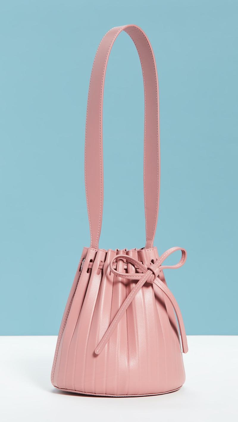 Mansur Gavriel Mini Pleated Bucket Bag in Blush $486.50 (previously $695)