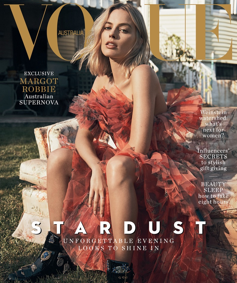 Margot Robbie on Vogue Australia December 2017 Cover