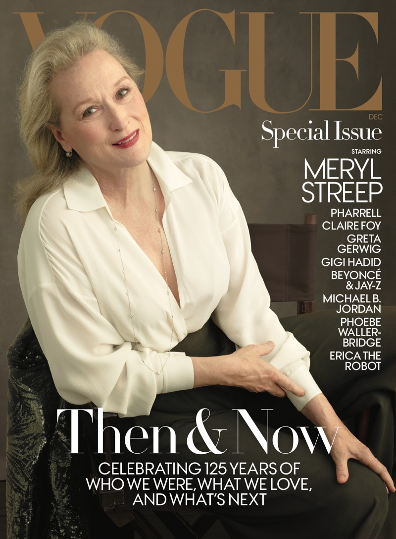 Meryl Streep Covers Vogue's December Issue, Talks With Anna Wintour