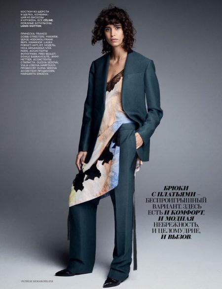 Mica Arganaraz Poses in Modern Styles for Vogue Russia