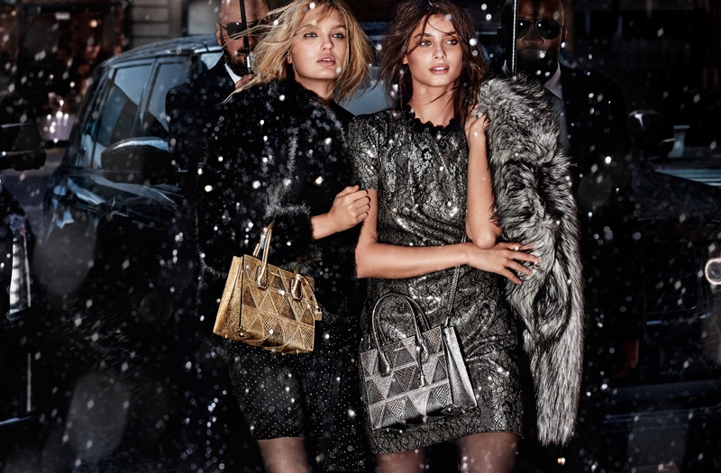 Romee Strijd and Taylor Hill star in Michael Kors' Holiday 2017 campaign