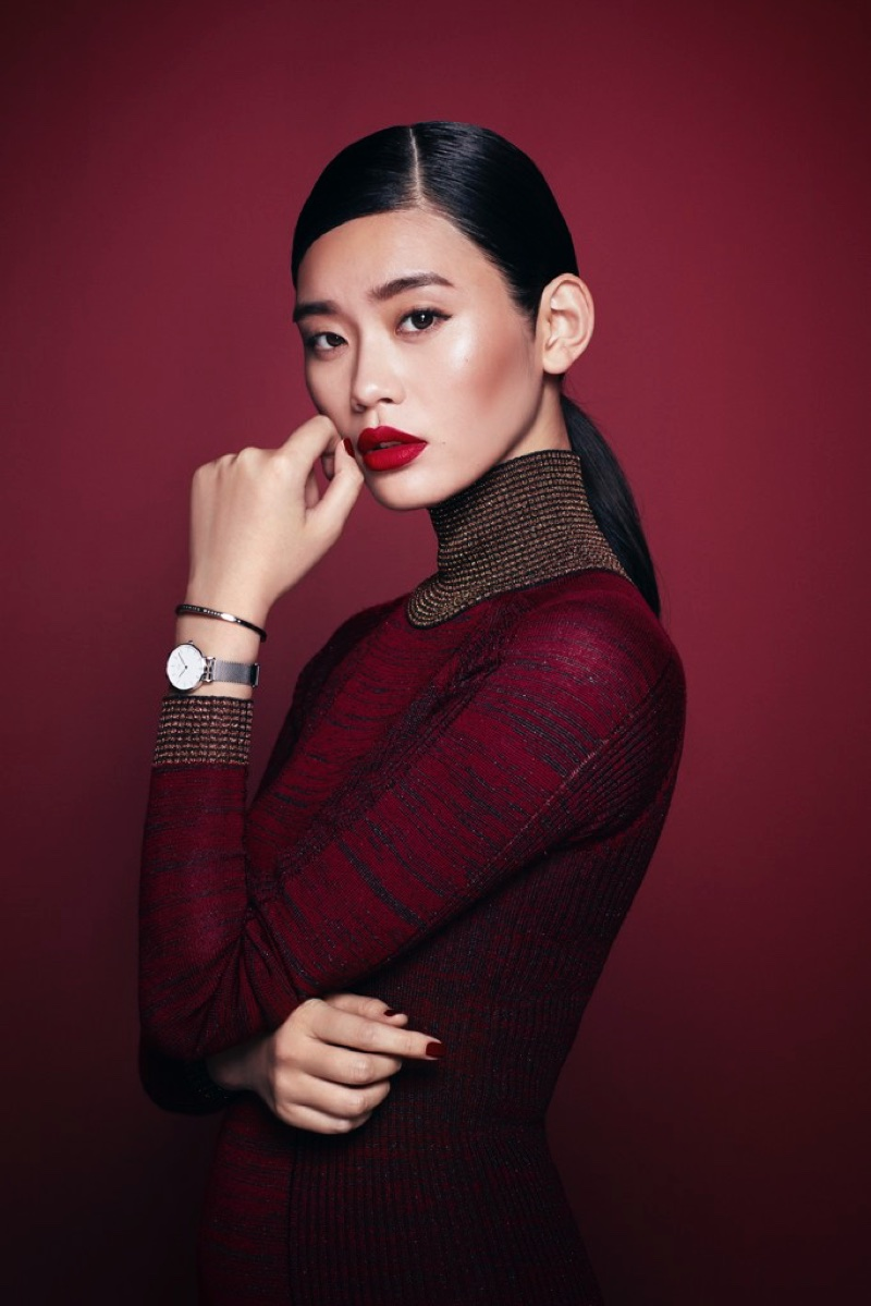 Ming Xi stars in Daniel Wellington's Holiday 2017 campaign