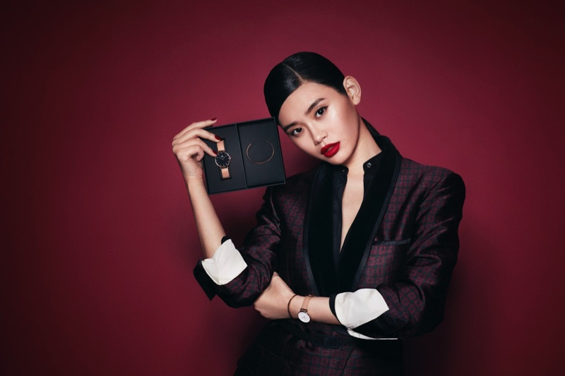 Ming Xi fronts Daniel Wellington's Holiday 2017 campaign