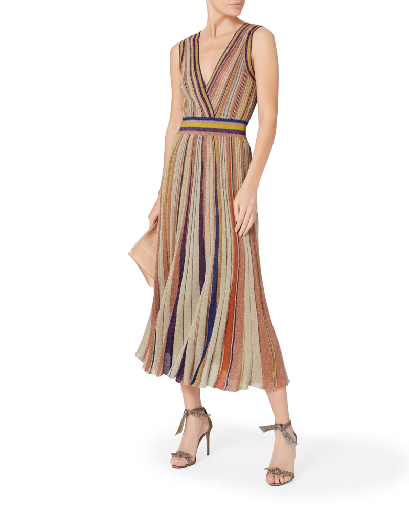Missoni x Intermix Striped Lurex Pleated Dress $1,995