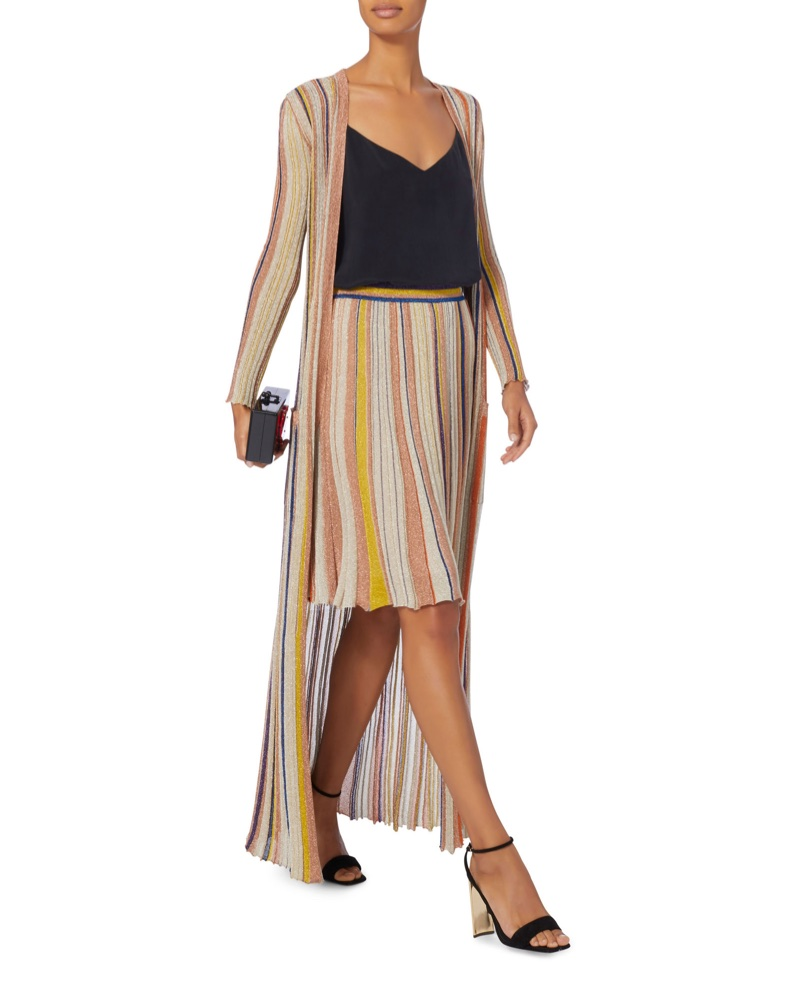 Missoni x Intermix Striped Lurex Skirt $795