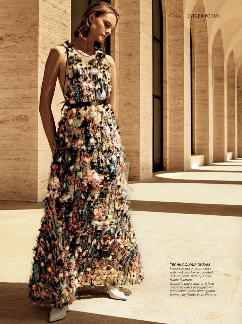 Nimue Smit Charms in Fendi Haute Couture for Hong Kong Tatler