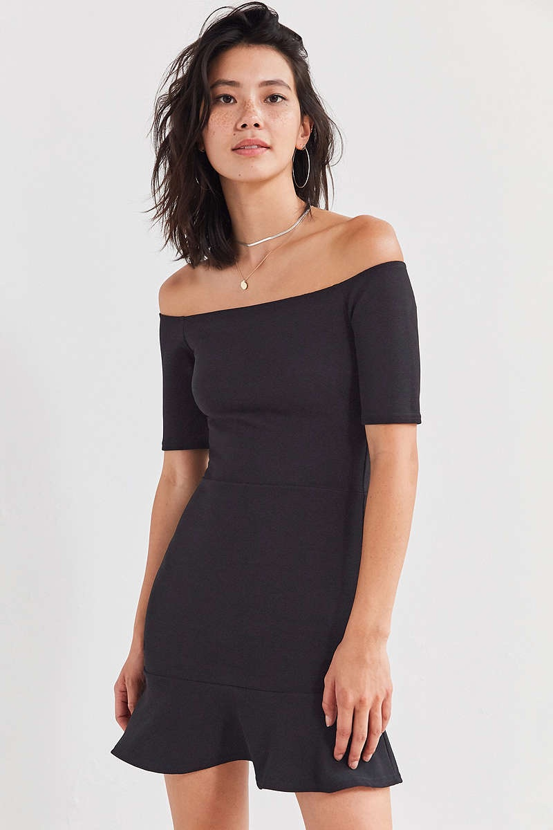 Oh My Love Off-the-Shoulder Ruffle Mini Dress $29.99 (previously $59)