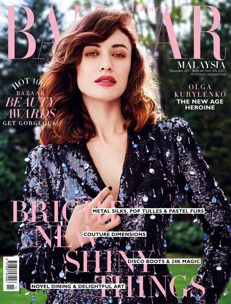 Olga Kurylenko on Harper's Bazaar Malaysia November 2017 Cover