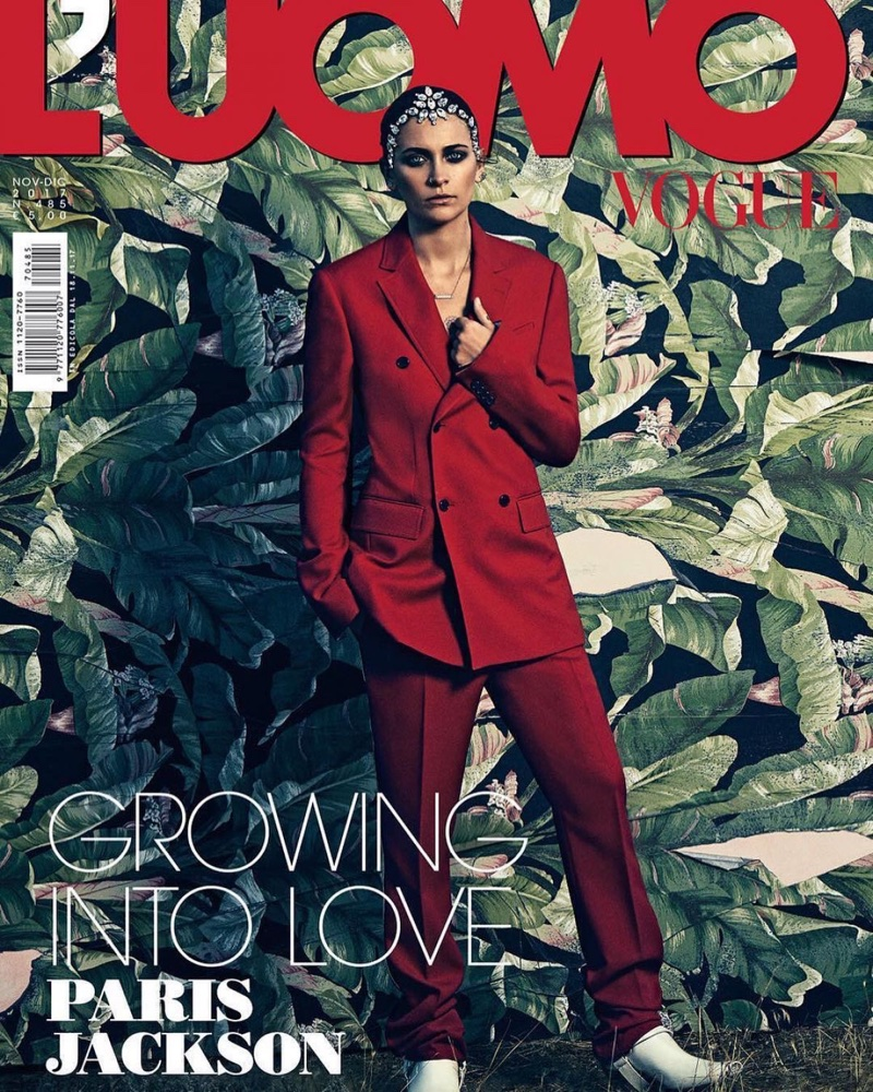 Paris Jackson on L'Uomo Vogue November-December 2017 Cover