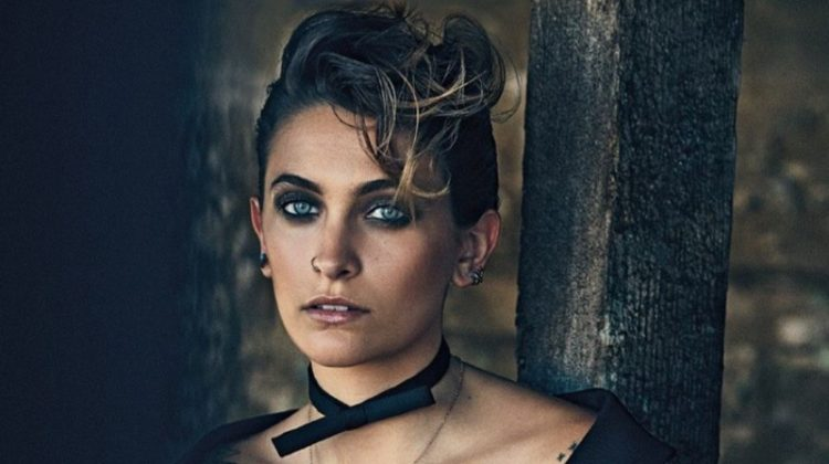 Actress Paris Jackson shows off her tattoos in this shot