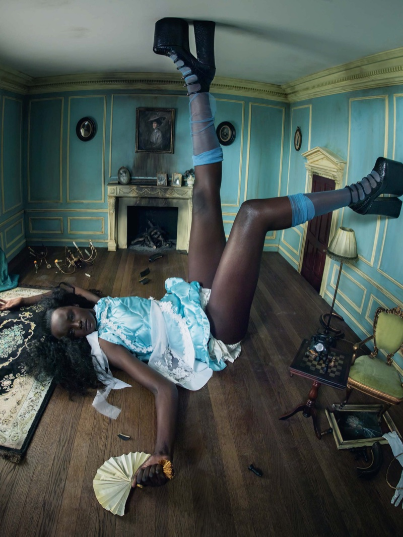 Duckie Thot as Alice in 2018 Pirelli Calendar