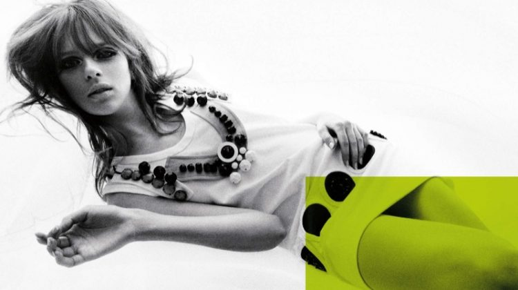 Elise Crombez stars in Prada's spring-summer 2003 campaign