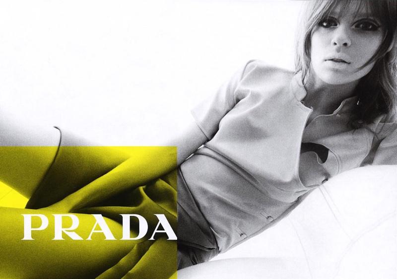 Elise Crombez fronts Prada's spring-summer 2003 campaign