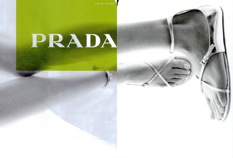 Sandals take the spotlight in Prada's spring-summer 2003 campaign