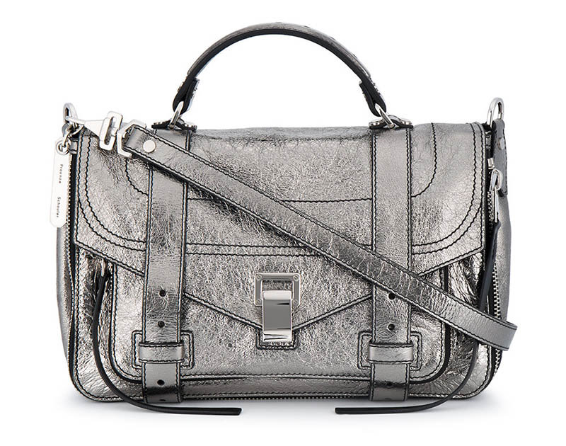 Proenza Schouler Metallic Leather Medium PS1 Satchel $2,121