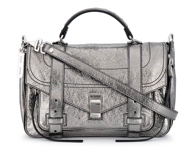 Proenza Schouler Metallic Leather Medium PS1 Satchel $2,121