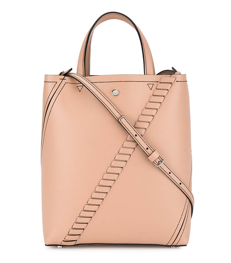 Proenza Schouler Mini Grain Leather Hex Tote with Crossbody Strap $1,127