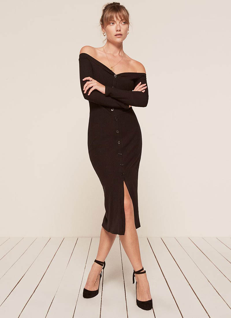 Reformation Cora Dress in Black $83 (previously $118)