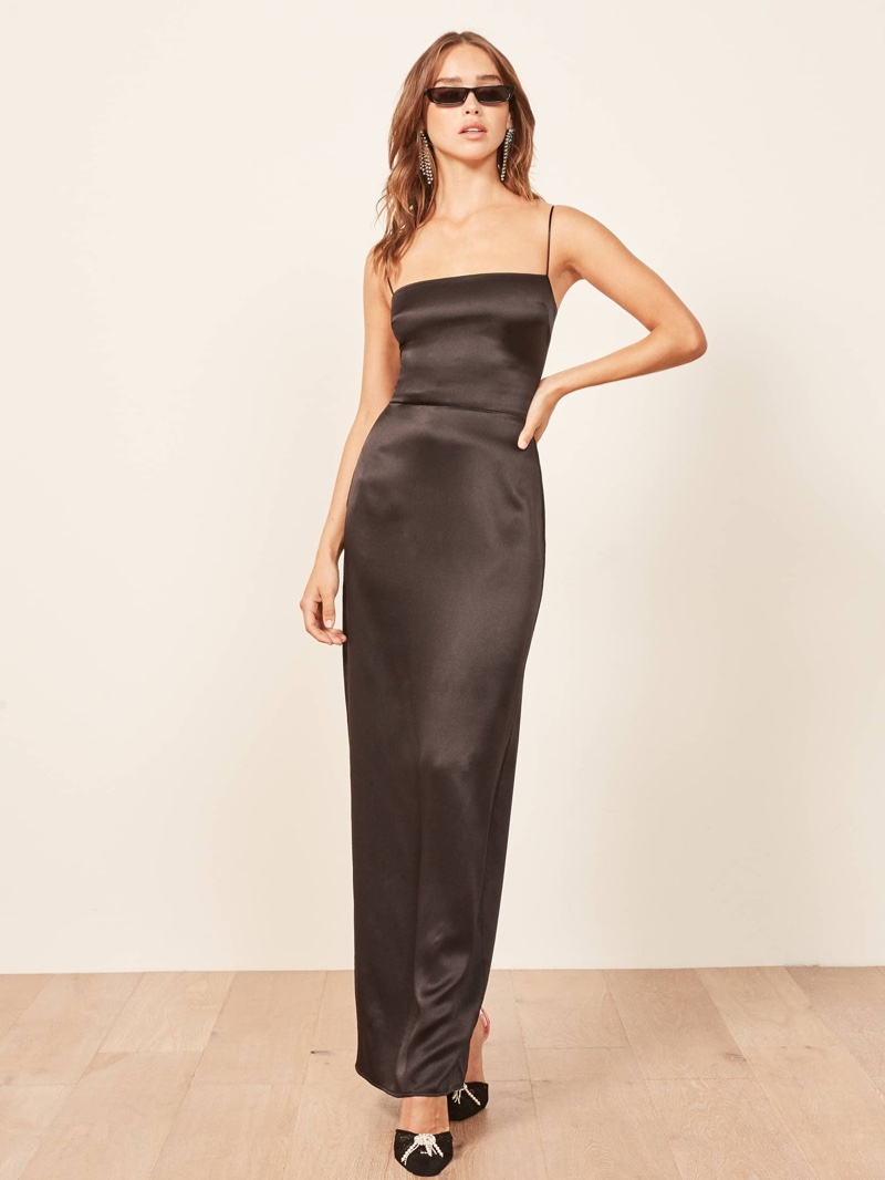 Reformation Frankie Dress in Black $278