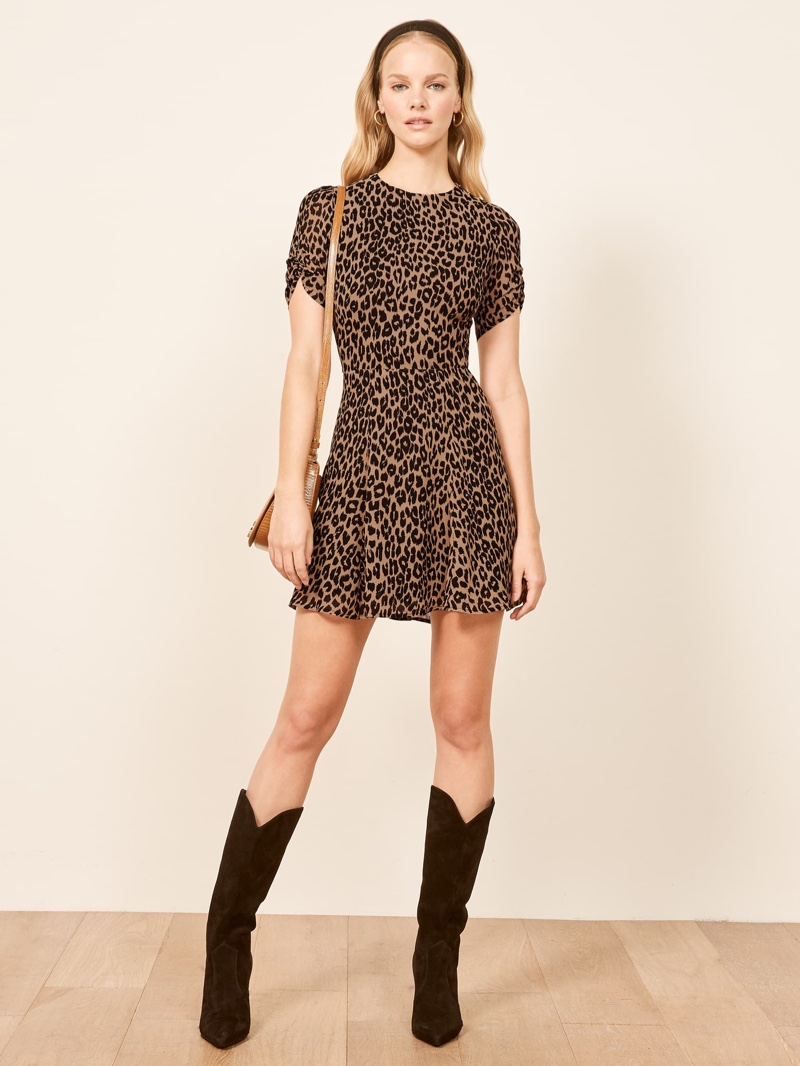 Reformation Gracie Dress in Cougar $198