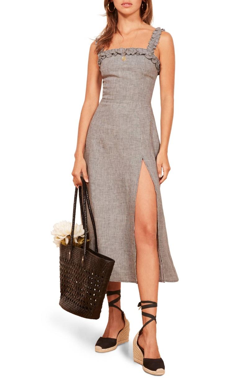 Reformation Lavender Front Slit Linen Midi Dress $130.80 (previously $218)
