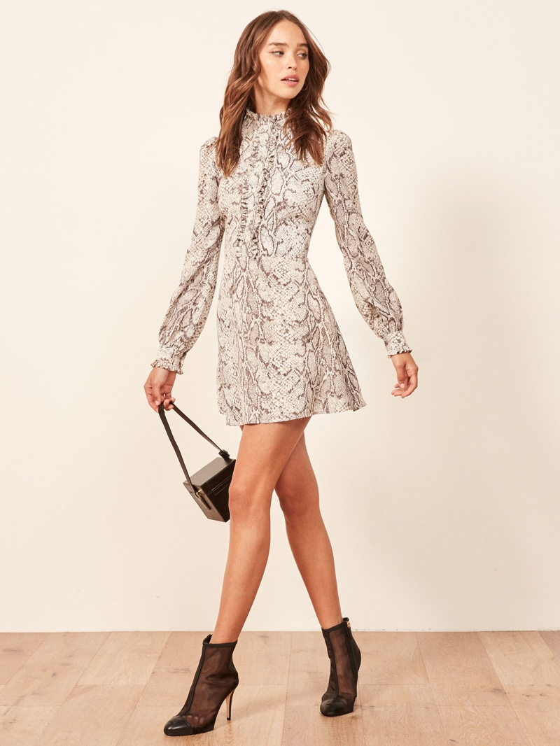 Reformation Mathilda Dress in Python $218