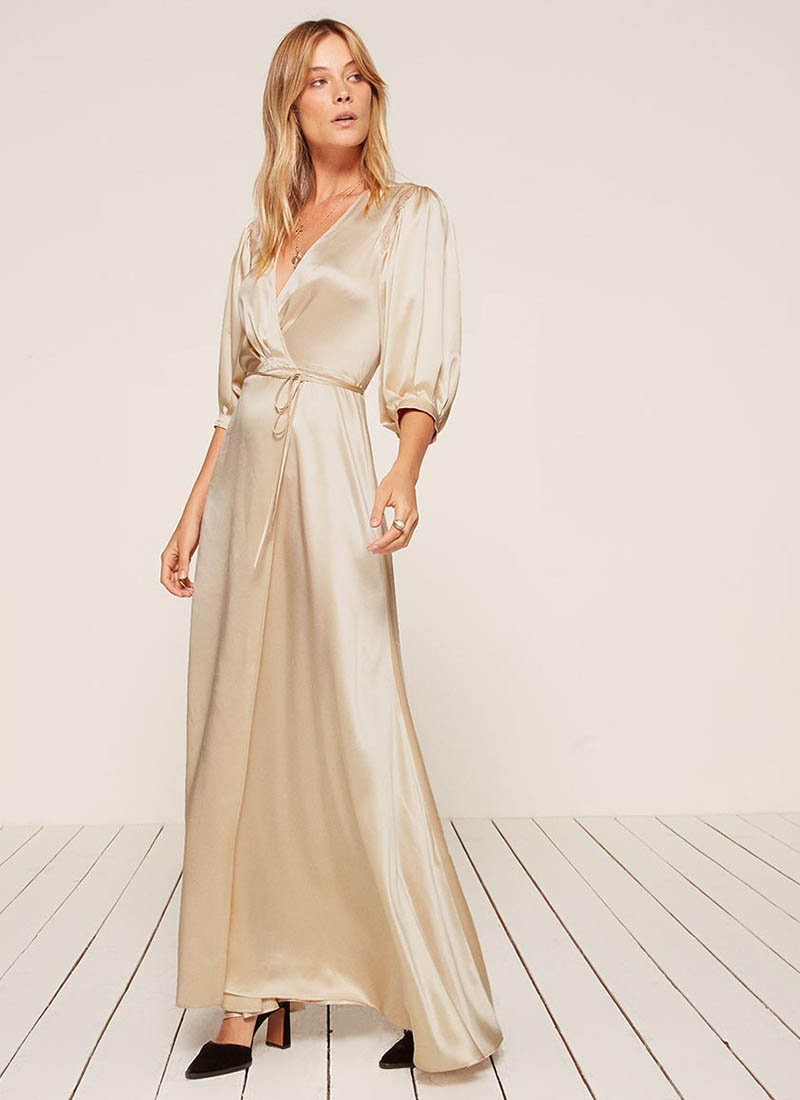 Reformation Olivine Dress in Ivory $278