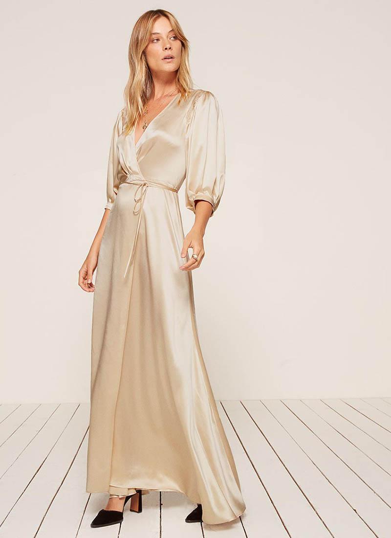 Reformation Olivine Dress in Ivory $278